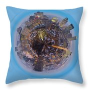 Planet Wee Montreal Quebec Throw Pillow