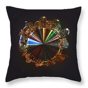 Planet Wee San Diego California By Night Throw Pillow