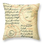 Planetary Diagram, Islamic Astronomy Throw Pillow by Science Source