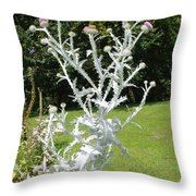 Plant And Flowers Throw Pillow