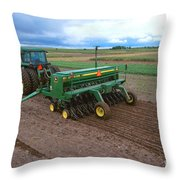 Planting Foxtail Millet Throw Pillow