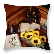 Plants And Seeds Throw Pillow by Science Source