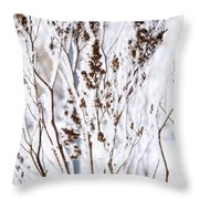 Plants In Winter Throw Pillow