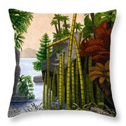 Plants Of The Triassic Period Throw Pillow by Science Source