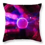 Plasma Hand Throw Pillow