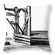 Platform Scale, C1900 Throw Pillow