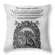 Plato: Title Page Throw Pillow by Granger