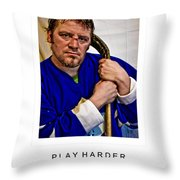 Play Harder Throw Pillow