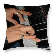 Play Me A Song Piano Man Throw Pillow