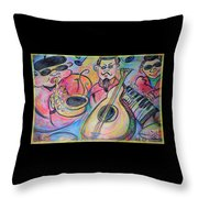 Play The Blues Throw Pillow