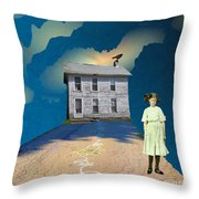Playful Possession Throw Pillow by Desiree Paquette