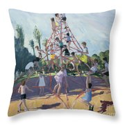 Playground Throw Pillow by Andrew Macara