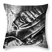 Playing Catch  Throw Pillow by Empty Wall