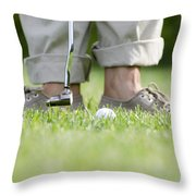 Playing Golf Throw Pillow