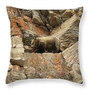 Playing Mountain Goat Throw Pillow