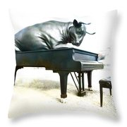 Playing The Minute Waltz Throw Pillow
