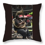 Playing The Tuba _ New Orleans Throw Pillow