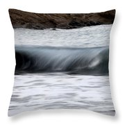 playing with waves 1 - A beautiful image of a wave rolling in noth coast of Menorca Throw Pillow