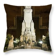 Plaza De Espana Madrid Spain Throw Pillow