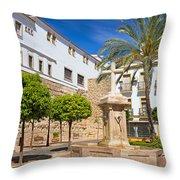 Plaza De La Iglesia In Marbella Throw Pillow