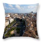 Plaza De La Reina Throw Pillow