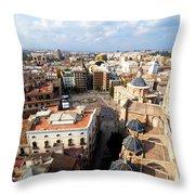 Plaza De La Virgen Throw Pillow
