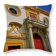 Plaza De Toros De La Maestranza - Seville  Throw Pillow