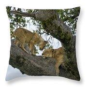 Please Wake Up Throw Pillow