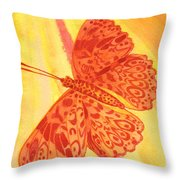 Pleasure Butterfly Throw Pillow
