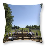 Plebes In The U.s. Naval Academy Class Throw Pillow