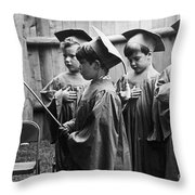 Pledging Allegiance, 1978 Throw Pillow