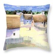 Plimoth Plantation Throw Pillow