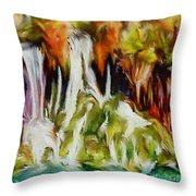 Plitvice Falls Throw Pillow