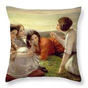 Plotting Mischief Throw Pillow