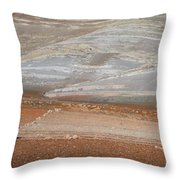 Ploughing In The Atlas Mountains Throw Pillow