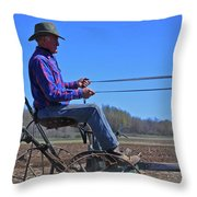 Plowing 1882 Throw Pillow