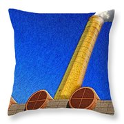 Plume And Doom Throw Pillow