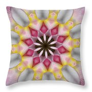 Plumeria 3 Throw Pillow