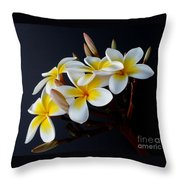 Plumeria Bouquet Throw Pillow