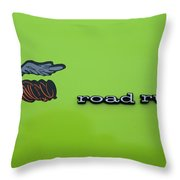 Plymoouth Road Runner In Lime Green Throw Pillow
