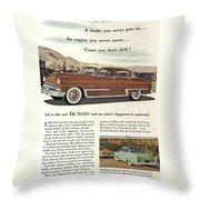 Plymouth De Soto 1953 Throw Pillow
