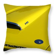 Plymouth Duster 340 Hood Scoop Throw Pillow