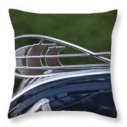 Plymouth Hood Ornament Throw Pillow