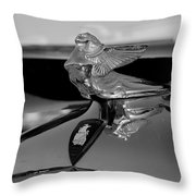 Plymouth Lady Throw Pillow