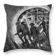 Pneumatic Transit, 1870 Throw Pillow