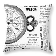 Pocket Watch, 1897 Throw Pillow