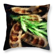 Pods And Seeds Throw Pillow