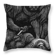Poe: Rue Morgue, 1841 Throw Pillow