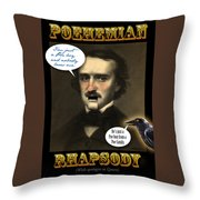 Poehemian Rhapsody Poster Throw Pillow