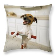 Pogo Dog Throw Pillow